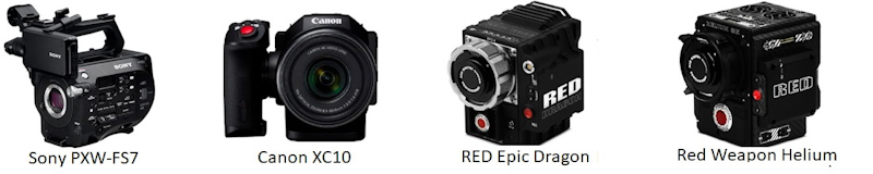 Canon XC10, Sony PXW-FS7 Hire, RED Epic Dragon, Red Weapon Helium 8k