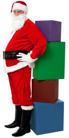 Santa Claus is golden, Ho Ho Ho!