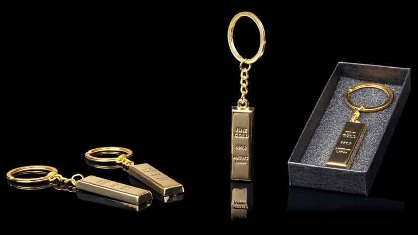 Gold Bullion Key Ring