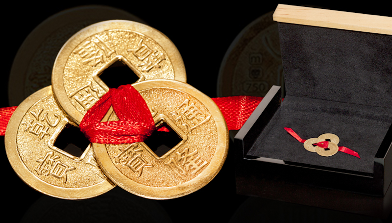 Gold I- Ching Coins